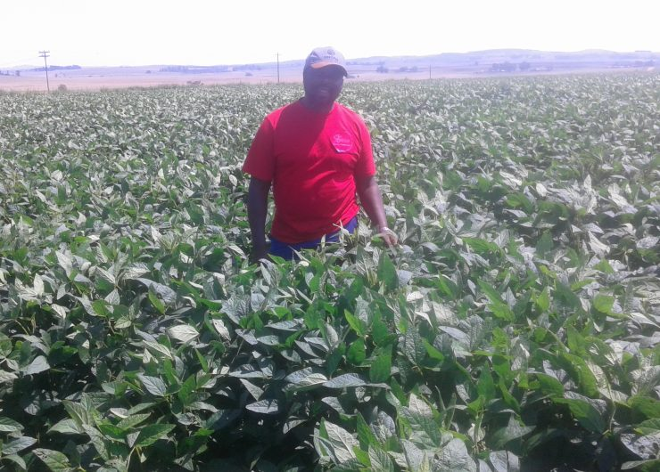 Farmer Themba Congwane in Nigel
